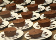 Fallen Chocolate Souffle Cake for dessert catering